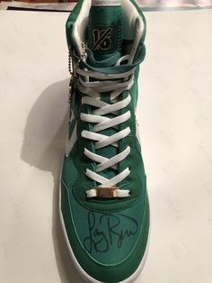 abb030c9d2f Larry Bird Signed Green Converse Weapons Shoes Boston Celtics BAS Larry  Hologram (eBay Link)