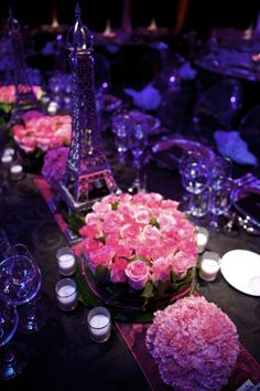 Parisian Theme - Table setting