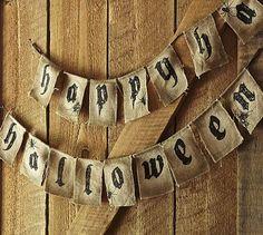 Happy Halloween Banner #potterybarn