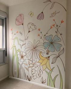 #acasinha #mural #pinturaartistica #decor #arquitetura #quartodemenina