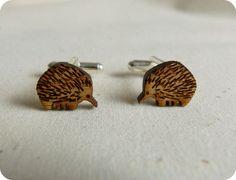 Cufflinks animal cufflinks Wood Cufflinks by onehappyleaf