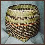 """Emma Garrett - Traditional Cherokee storage basket made from River Cane. """"Basket-weaving is one of the oldest known Native American crafts--there are ancient Indian baskets from the Southwest that have been identified by archaeologists as nearly 8000 years old."""" Amazing skill from my wive's ancestral heritage. #TrollbeadsWorldTour"""