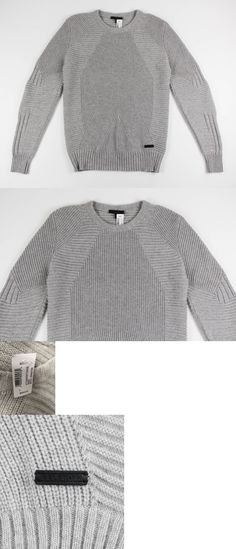Sweaters 11484  Belstaff New Mens Grey Moto Sweater Wool Cashmere Knit Size  L Large  650 471b1cfc5f