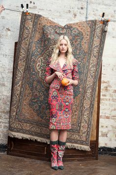 Look 05 Anglomania #AW1415  Detailed print eclectic colour mix