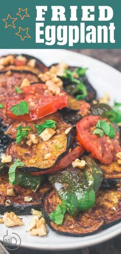 fried eggplant recipe No batter or breadcrumbs necessary! You'll love this delicious, Mediterranean-style eggplant recipe. If you've not made fried eggplant before, you'll want to grab her tips and serving ideas. Vegetarian Dinners, Vegetarian Recipes, Cooking Recipes, Healthy Recipes, Easy Recipes, Greek Recipes, Vegan Meals, Healthy Food, Healthy Eating