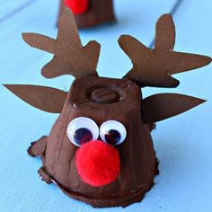 Egg carton reindeer craft for Christmas – Crafty morning – Christmas Crafts Kids Crafts, Christmas Crafts For Kids To Make, Preschool Christmas, Christmas Activities, Christmas Projects, Creative Crafts, Kids Christmas, Holiday Crafts, Rudolph Christmas