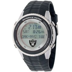 Oakland Raiders Mens Schedule Wrist Watch