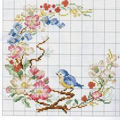 Etamin Şablonları Kuş Desenleri 14