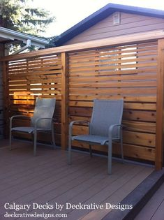 29 New Ideas Privacy Screen Balcony Deck Railings Outdoor Decor, Clearance Outdoor Furniture, Privacy Wall On Deck, Backyard Privacy Screen, Screened In Deck, Patio Design, Horizontal Deck Railing, Privacy Screen Outdoor, Privacy Screen Deck