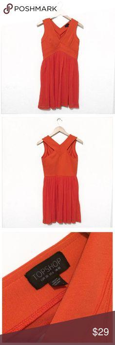 Sale🎉TOPSHOP Orange Dress size 6 Excellent used condition TOPSHOP Orange Dress size 6. Topshop Dresses Mini