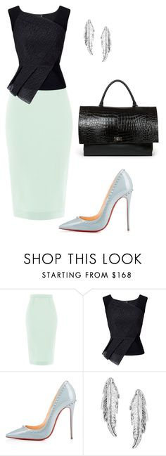 """""""style theory by Helia"""" by heliaamado on Polyvore featuring moda, Roland Mouret, Christian Louboutin, LeiVanKash e Givenchy"""