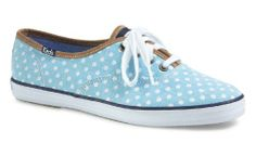 nice Keds Women's Champion Dot Aqua/White
