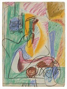 22. Étude pour Femme à la cathédrale de sens. Le Corbusier