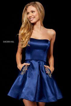 d6cfe416e15  sherrihill  shortdress  simple  pockets  homecoming  girligirlboutique Sherri  Hill Homecoming Dresses