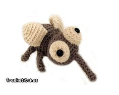 Hooray! This cutie is now available in a FreshStitches Kit... pattern, yarn and eyes in one adorable package!Normally, mosquitoes are pretty annoying... but not Dale! He