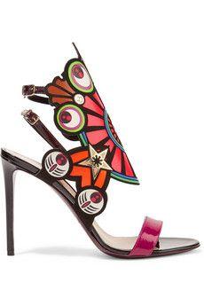 Nicholas Kirkwood Kaleidoscope flocked leather sandals | THE OUTNET