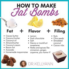 Fat bombs are little low-carb, high-fat treats that became popular from people on the keto diet… they can be either sweet or savory—that…