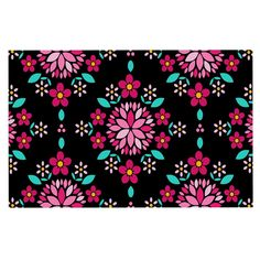 KESS InHouse Anneline Sophia 'Dahlia Mandala' Pink Black Dog Place Mat, 13' x 18' >>> See this great image  (This is an amazon affiliate link. I may earn commission from it)