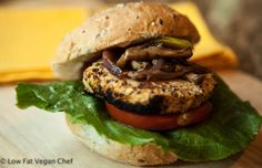 Vegan Chickpea Quinoa Burger with Lemon and Thyme
