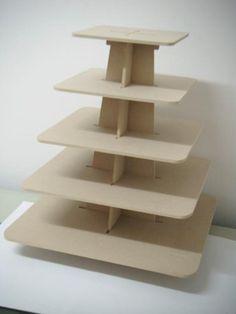 base para cupcakes, quequitos, bollitos hecho de madera