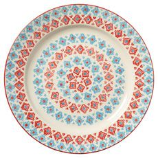 Leyla Large Plate - Blue/White