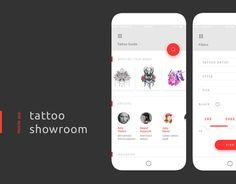 Ознакомьтесь с этим проектом @Behance: «Tattoo showroom» https://www.behance.net/gallery/37364207/Tattoo-showroom