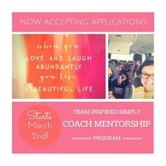 I have something super exciting to share about something I have been working on!!! I am NOW accepting applications for my new coach mentorship program! I will be accepting five new coaches to personally guide during the month of March through challenge group apprenticeship and invaluable resources on helping other people reach their goals! You might be thinking, what if I'm not in shape or at my dream body? What if I'm pregnant and can't do the workouts? What if I'm too busy? How can I…