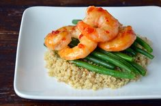 Here's an excellent example of how to plate food at home from the KitchenAid blog The KitchenEnthusiast. Great way to serve shrimp with beans and grains.
