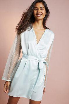 Flora Nikrooz Showstopper Robe. Satin Sleepwear ... 069df4763