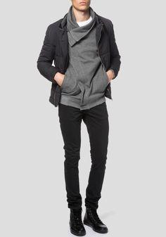 Padded studded style jacket