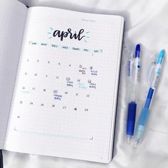 "1,684 Likes, 20 Comments - Leni (@letteringwithleni) on Instagram: ""April setup! """