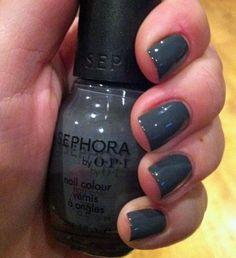 I love this color. I started wearing it when I was obsessed with Black Swan -- I thought that this would make me Natalie Portman or Mila Kunis. It didn't but it made my nails look substantially cooler.