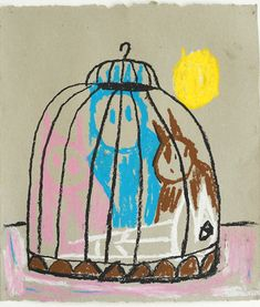 Pastelle drawing by Ernst Koslitsch artwork for sale work on paper, unframed pricing 550 Euro Outsider Art, Art Club, Contemporary Artists, Mythology, Euro, Digital Art, Sculpture, Drawings, Paper