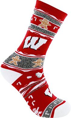 best website a4aae 18f83 For Bare Feet NCAA Ugly Christmas Holiday Socks  Officially Licensed NCAA  Product Spandex Ugly Christmas pattern print in team colors Super soft,  thick, ...