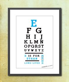 Custom Alphabet Print Baby Boy Name Meaning Eye by TANGRAMartworks, $20.00
