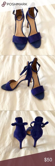 Joie Jaclyn Heel Cobalt Blue Used- Heel is super comfortable and east to walk in. Fits a size 6 perfectly. Wear is seen in pictures. Joie Shoes Heels