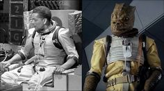 Bossk's clothing is a recycled spacesuit from the classic Doctor Who episode: The Tenth Planet