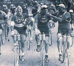 Tour de Francia, bicicletas de una sola velocidad y un descanso de humo, 1920.