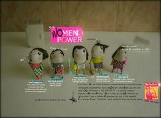 """women power""  handmade and handpainted brooches by 'HÁ MONSTROS DEBAIXO DA CAMA' (portuguese brand)  you can order? YES, you can!- hamonstrosdebaixodacama@gmail.com"