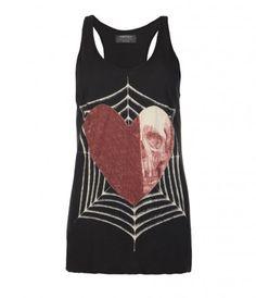 Heart/Skull Web Vest. AllSaints.