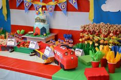 Chuggington First Birthday Party - adorable decor and food ideas!