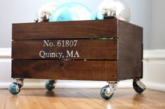 Easy stained crates