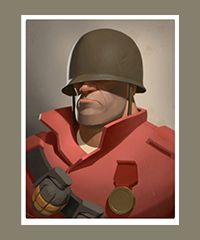 team fortress 2 - portrait soldier.