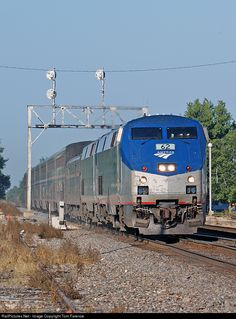 RailPictures.Net Photo: AMTK 62 Amtrak GE P42DC at Wataga, Illinois by Tom Farence