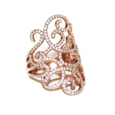 Rose Gold Engagement Ring Princess Jasmine por SillyShinyDiamonds