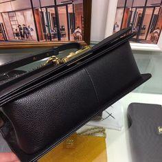 Best Authentic Quality Chanel Caviar Boy Bag With Gold Hardware Medium Size Chanel Caviar, Brand Packaging, Gold Hardware, Dust Bag, Branding Design, Zip Around Wallet, Medium, Luxury, Boys