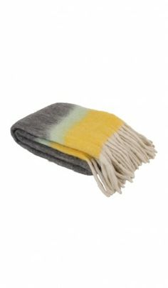 Dip dye blanket - yellow - Plümo Ltd