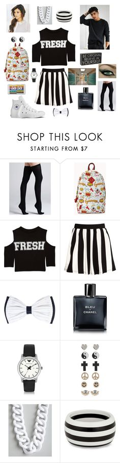 """First Day of School... Zayn Takes You To School :)"" by mary-5so1ds ❤ liked on Polyvore featuring Commando, Converse, Forever 21, H&M, Chanel, Emporio Armani, 1&20 Blackbirds, Kenneth Jay Lane, Principles by Ben de Lisi and WALL"