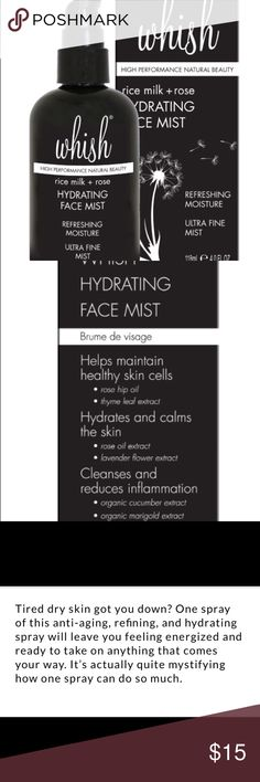Whish Hydrating Face Mist New in box! Whish Hydrating Face Mist. whish Makeup