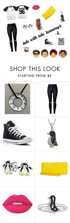 """Date With Luke Hemmings"" by miabell22004 ❤ liked on Polyvore featuring Converse, Bling Jewelry, MICHAEL Michael Kors and Lime Crime"